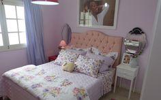 LAR DOCE LAR - Vivian ganhou um quarto digno de seu glamour, com muito rosa, floral e feminilidade