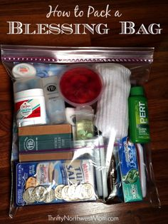 Blessing Bag Kits for homeless or those in need.