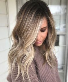 Hairstyles hair ideas Balayage and ombre hair Hair Color Ideas & Trends for 2018 Stylish and attractive - Ombre Hair Brown Ombre Hair, Brown Blonde Hair, Long Ombre Hair, Winter Blonde Hair, Gold Blonde, Wavy Hair, Blonde Honey, Caramel Blonde, White Blonde