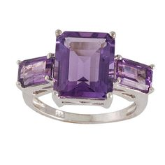 Amethyst Gemstone Ring Purple Ring Handmade Ring by ArihantJewelry