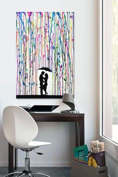 Rainbow Precipice | canvas art