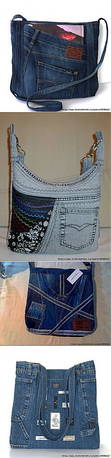 Sac Jean Purses, Diy Bags Purses, Denim Purse, Denim Ideas, Denim Crafts, Recycled Denim, Denim And Lace, Quilted Bag, Handmade Bags