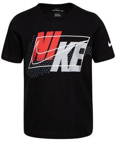 Nike Toddler Boys Cotton Split-Block-Logo-Print T-Shirt - Black Sport Shirt Design, New T Shirt Design, Shirt Designs, Sports Shirts, Tee Shirts, Estilo Fitness, Nike Outfits, Boy Outfits, Men's T Shirts