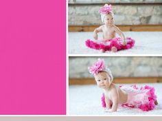 Christina Bailitz Photography - Chicago Baby Photographer - First Birthday Photo Session.  Pink Tutu for Birthday Session.