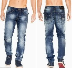 Details zu Jeansnet Herren Jeans Hose Vintage Slim Fit Clubwear Denim  JN-8189 Blau W29-W38