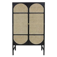 This beautiful HK living Retro webbing cabinet is a real addition to your interior! This handmade HKliving webbing cabinet is made of wood and cane. Equipped with a 6 shelves.