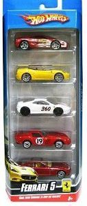 Amazon.com : Hot Wheels Ferrari 5-Pack - Styles May Vary : Childrens Die Cast Vehicles : Toys & Games