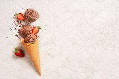 Ice Cream Background, Ice Cream Menu, Ice Cream Design, Cloud Wallpaper, Waffle Cones, Chocolate Ice Cream, Strawberry, Business Proposal, Visual Diary