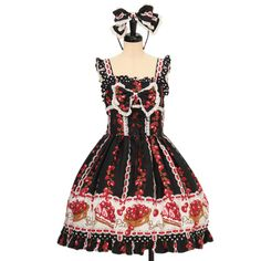 ♡ BABY THE STARS SHINE BRIGHT ♡ Strawberry tart Pattern Jumper Skirt + Headband http://www.wunderwelt.jp/products/detail10268.html ☆ ·.. · ° ☆ How to order ☆ ·.. · ° ☆ http://www.wunderwelt.jp/user_data/shoppingguide-eng ☆ ·.. · ☆ Japanese Vintage Lolita clothing shop Wunderwelt ☆ ·.. · ☆