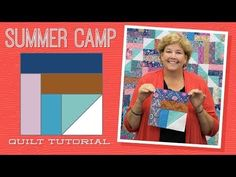 Make a Summer Camp Quilt with Jenny Doan of Missouri Star! Jenny Doan Tutorials, Msqc Tutorials, Quilting Tutorials, Quilting Ideas, Missouri Quilt Tutorials, Jellyroll Quilts, Patchwork Quilting, Scrappy Quilts, Patch Aplique