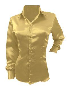 The Office Shirts, Top Girls, Satin Shirt, Girls Blouse, Clothing Size Chart, Cutaway, Vintage Wear, Office Wear, Long Sleeve Shirts