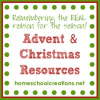 Christmas and Advent resources for families - to help remember the REAL reason for the season!