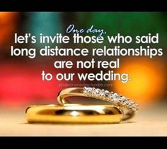 One day, long distance relationship, wedding