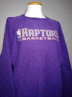 99448437c Rare Vintage 1990 s Toronto Raptors Reverse Weave Champion Spell Out  Sweatshirt  Retro 90s NBA Hip Hop
