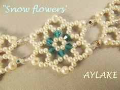 "Best Seed Bead Jewelry  2017   How to do bracelet ""Snowflowers"" simple  Seed Bead Tutorials"