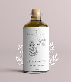 Label design for Bimbimbi botanics / packaging design / brand package / illustration Skincare Packaging, Tea Packaging, Cosmetic Packaging, Print Packaging, Bottle Packaging, Simple Packaging, Perfume Packaging, Bottle Labels, Design Poster