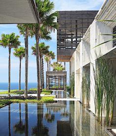 Architecture and Beach view of Alila Villas Uluwatu Bali Indonesia
