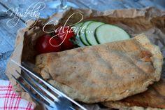 Lavkarbo Calzone... Calzone, Sugar Free, Gluten Free, Ethnic Recipes, Pizza, Food, Goal, Glutenfree, Essen
