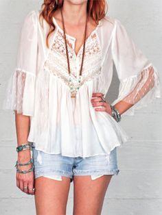Boho Babe Top (White) — Gypsan - Bohemian and Boho Chic Clothing for Women