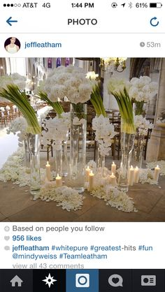 Ceremony decor by Jeff Leatham