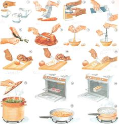 Lista de verbos en ingles usados para cocinar
