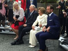 On June 07, 2016, King Harald and Queen Sonja, Crown Prince Haakon and Crown Princess Mette-Marit of Norway attended the presentation of the Storting's (Norwegian Parliament) gift for King Harald 25th anniversary at the Oscarshall Summer Palace in Oslo, Norway. The Storting is the Norwegian Parliament.