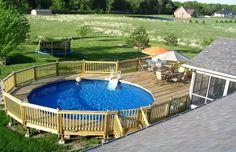 Round Above Ground Pool Deck Plans   Home Design Ideas