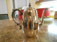 Vintage Wm Rogers Silver Plate Tea Coffee Water Pot Pitcher Set International   eBay