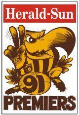 Hawthorn vs West Coast: WEG Premiership Poster 1991
