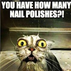 Did you get this reaction after telling someone how many polishes you own? Us,…