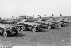 SdKfz. 231 and SdKfz. 232 armored vehicles of German IX Corps on parade, Sep 1936