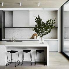 Modern Small Kitchen Design Inspiration for Your Beautiful Home - Another impressive kitchen design by @mimdesignstudio #urbancouturedesign #interiordesign #interiorstyling