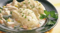Try this quick and easy recipe for family-favorite chicken and dumplings made with Grands!®. Comfort food at its best!