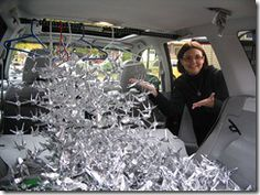 advice on how to string and display 1,000 paper cranes. This is excellent advice!!!!