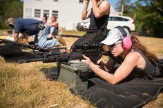 Unique OffHand Gear hand guard featured on Amanda's AR15 build  #ar15 #ar15build #offhandgear #rifle #rangetime #targetshooting #gunrange #gungirls  . . .   (  @amandagrexxz via @latermedia )