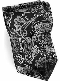 152242264685 Mens - Sean John Black Paisley Extra Long Tie - Men's Wearhouse