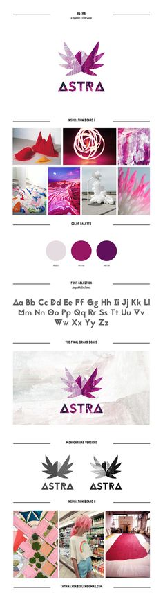 Astra Fire show logo on Behance #logotype #logo #inspiration #design #board #pink #flower