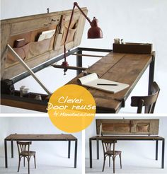 desk diy from a door by manoteca-designs.jpeg (670×700)