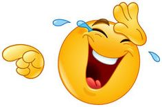 Risa con los rasgones y señalar el emoticon Fotografía de archivo libre de regalías