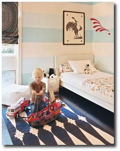 Painted Stripe Boys Room -Cookie Magazine