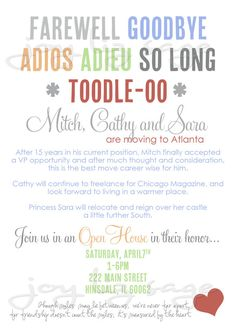 Farewell Invitations Templates. doc free going away party ...