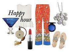 Blue Martini by katerinadamilos on Polyvore featuring Miss Selfridge, Tory Burch, Antik Batik, MAC Cosmetics and Jan Barboglio