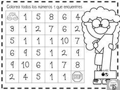Creativas actividades para el trazo de los números del 1 al 5 para preescolar y primer grado de primaria   Educación Primaria Kindergarten Math Activities, Preschool Classroom, Preschool Worksheets, Preschool Activities, I Love Math, Fun Math, Learning Numbers, Pre Writing, Alphabet Worksheets