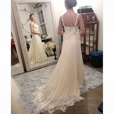 Última prova da nossa noivinha linda Patricia Banheti... Wedding Dress Atelier Carla Gaspar.