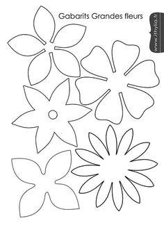 Risultato immagine per gabarit fleur