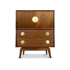 Modern Furniture | Claude Walnut Bar | Jonathan Adler