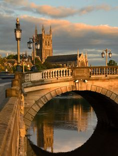 Icons of Worcester, England, Great Britain.   #bridges #England   ➤ Image credit: flash of light, via Flickr