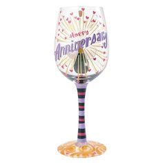 Happy Anniversary Wine Glass – Modo Creations
