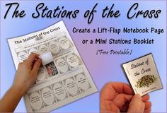 Stations of the Cross ~ Lift-Flap Notebook Page and a Mini Booklet ~ Catholic Inspired