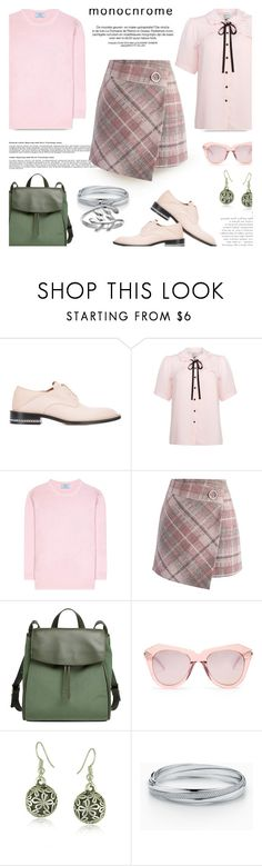 """""""Color Me Pretty..."""" by unamiradaatuarmario ❤ liked on Polyvore featuring Givenchy, Joanie, Prada, Chicwish, Skagen, Karen Walker, WithChic, Belk Silverworks and monochromepink"""